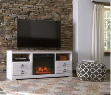 Willowton - White Wash 2 Piece Entertainment Set