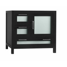 "Athena 36"" Bathroom Vanity Base Cabinet in Black - Door on Right"