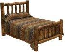 Cedar Cal. King Traditional Log Bed - Complete - Vintage Cedar Product Image