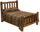 Cedar King Traditional Log Bed - Complete - Vintage Cedar Product Image