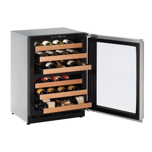 "2000 Series 24"" Wine Captain® Model With Stainless Frame (lock) Finish and Left-hand Hinged Door Swing (115 Volts / 60 Hz)"