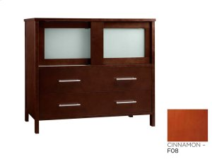 "Minerva 36"" Bathroom Vanity Base Cabinet in Cinnamon Product Image"