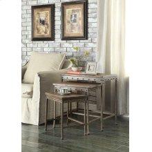 Rustic Brown Nesting Table