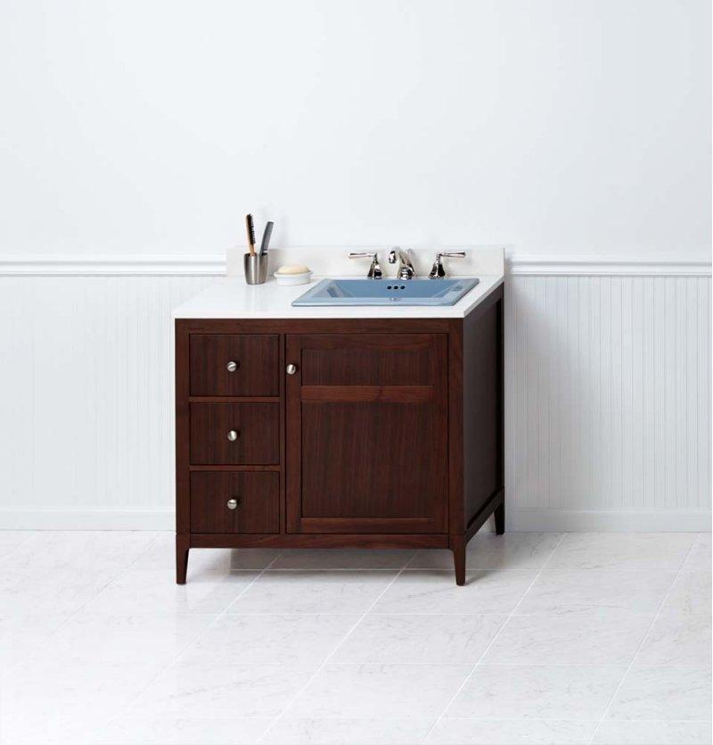 Briella 36 Bathroom Vanity Cabinet Base In American Walnut