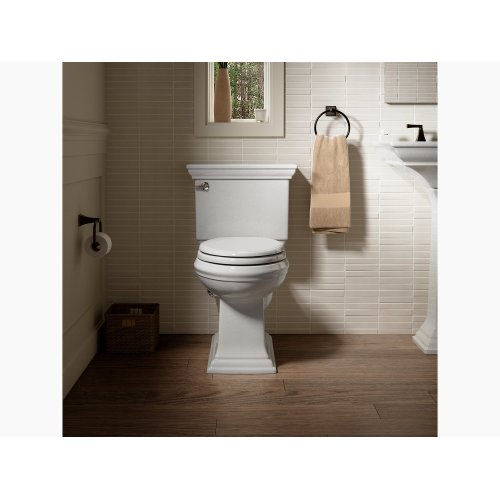 Black Black Comfort Height Two-piece Elongated 1.28 Gpf Toilet With Aquapiston Flushing Technology and Left-hand Trip Lever, Seat Not Included