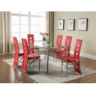 Los Feliz Contemporary Red Dining Chair Product Image