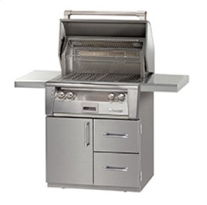 """30"""" ALXE 1 Door and 2 Drawers Cart Model with Sear Zone"""