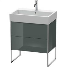 Vanity Unit Floorstanding, Dolomiti Gray High Gloss Lacquer