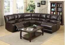 Cadence Brown Bonded Leather Reclining Sectional