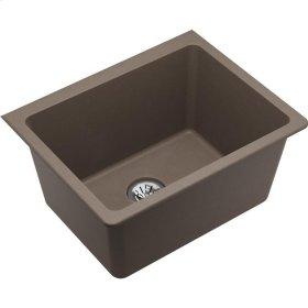 "Elkay Quartz Classic 25"" x 18-1/2"" x 11-13/16"", Undermount Laundry Sink with Perfect Drain, Greige"