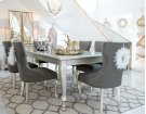 Coralayne - Silver Finish 7 Piece Dining Room Set Product Image