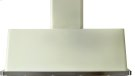 """Antique White with Stainless Steel Trim 48"""" Range Hood with Warming Lights Product Image"""