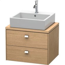 Brioso Vanity Unit For Console Compact, European Oak (decor)