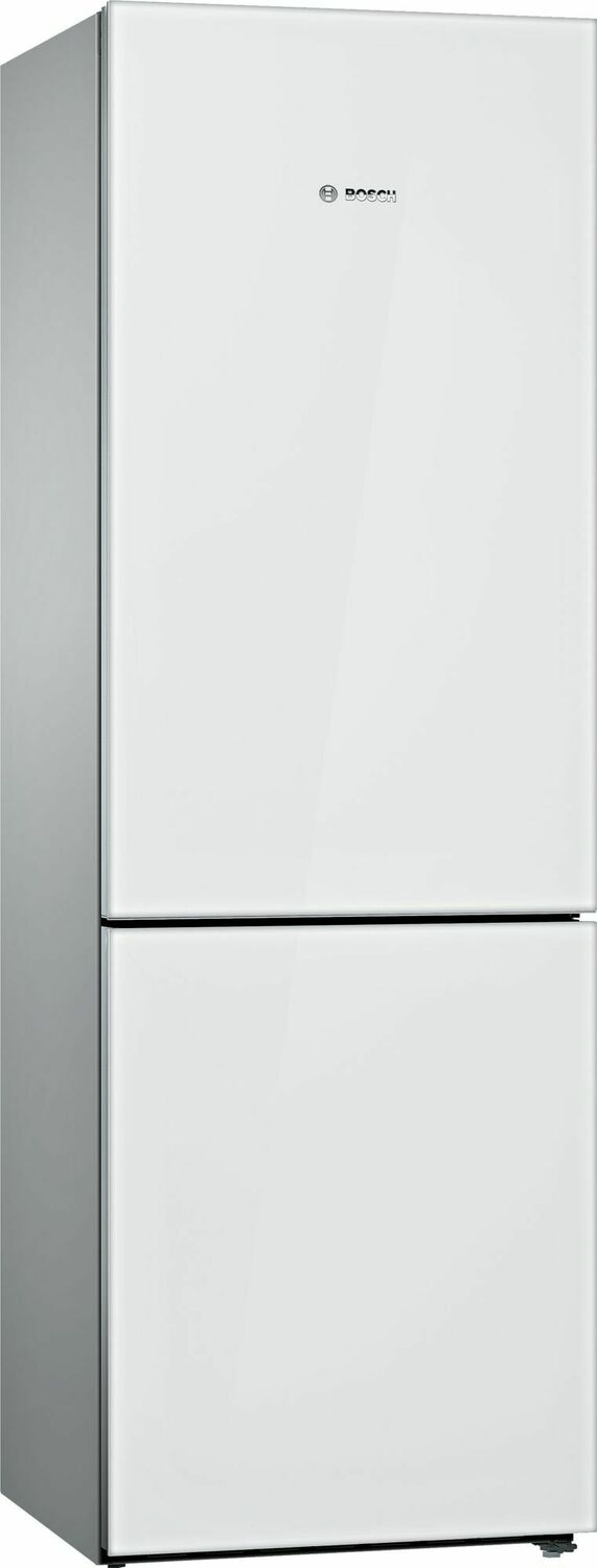 B10cb81nvw Bosch 800 Series Free Standing Fridge Freezer With Freezer At Bottom Glass Door 23 5 White B10cb81nvw White Metro Appliances More Kitchen Home Appliance Stores