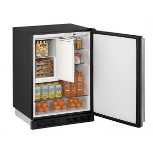"""U-Line1000 Series 24"""" Refrigerator/freezer With Stainless Solid Finish and Field Reversible Door Swing (115 Volts / 60 Hz)"""