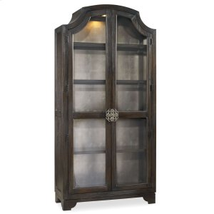 Hooker FurnitureLiving Room Sanctuary Glass Bunching Curio-Ebony Antiqued Oak
