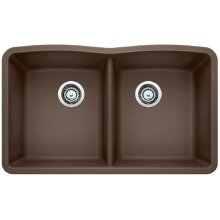 Blanco Diamond Equal Double Bowl - Café Brown