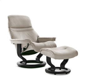 Stressless Sunrise Large Classic Base Chair and Ottoman