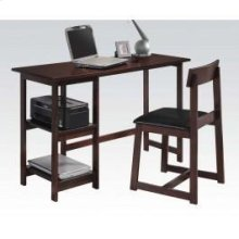 Espresso 2pc Pk Desk , Chair