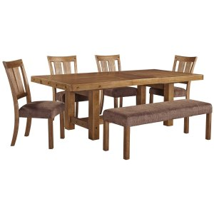 Ashley Furniture Tamilo - Gray/brown 6 Piece Dining Room Set