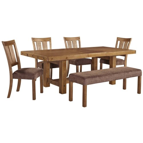 Tamilo - Gray/Brown 5 Piece Dining Room Set