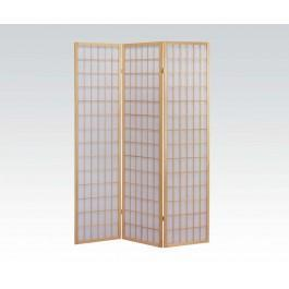 3-panel Natural Wooden Screen