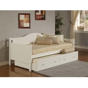 Staci Full Trundle Daybed White
