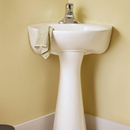 Cornice Pedestal Sink - White