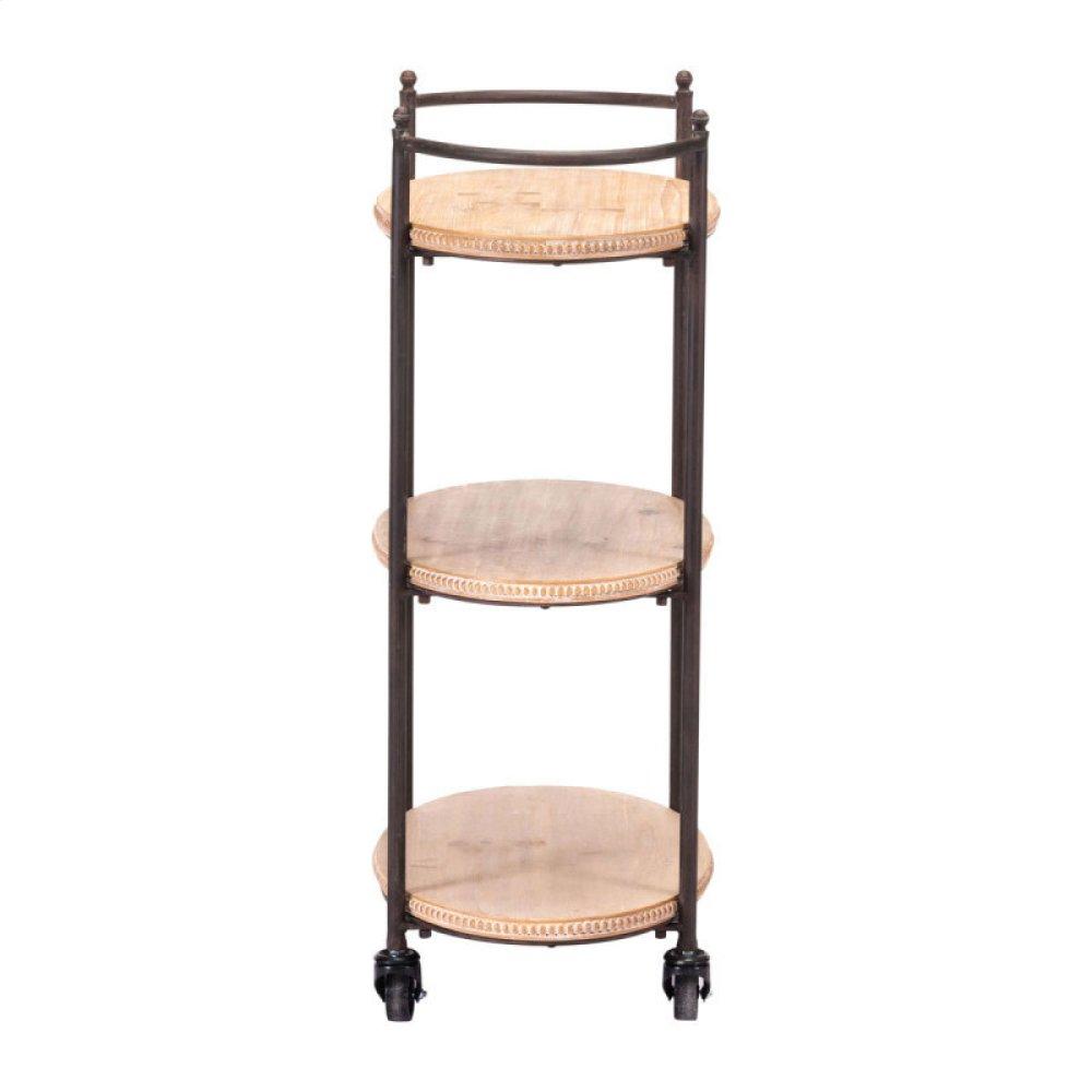 Tri Level Bar Cart Brown