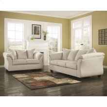 Signature Design by Ashley Darcy Living Room Set in Stone Microfiber