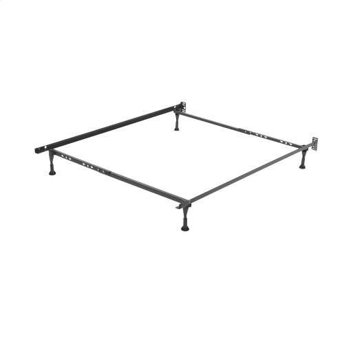 Sentry PL79G Adjustable Posi-lock Bed Frame with Headboard Brackets and (4) 2-Inch Glide Legs, Twin - Full