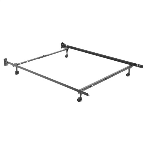 """Heritage 20R Premium Adjustable Bed Frame with Reversible Headboard Brackets and (4) 2"""" Locking Rug Rollers, Twin / Full"""