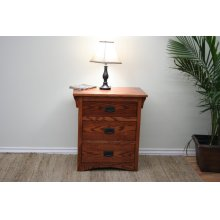 O-M450 Mission Oak 3-Drawer Night Stand