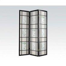 3-panel Black Wood Screen