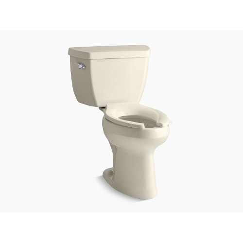 Almond Comfort Height Two-piece Elongated 1.6 Gpf Toilet With Pressure Lite Flush Technology and Left-hand Trip Lever, Seat Not Included