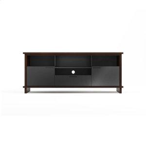 Bdi FurnitureTriple Width Cabinet 8828 in Chocolate Stained Walnut
