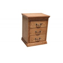 O-T314 Traditional Oak 3-Drawer Night Stand