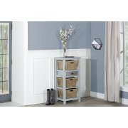Tuscan Retreat® Basket Stand With Metal Front and Three Baskets Product Image