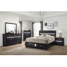 Miranda Contemporary Black Queen Bed