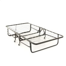 """Deluxe Rollaway Folding Link Spring Bed 1221 with Angle Steel Frame and 39"""" Foam Mattress, 38"""" x 75"""""""