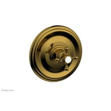 """HEX TRADITIONAL 1/2"""" Mini Thermostatic Shower Trim 4-097 - French Brass"""