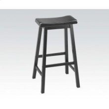 "Black 29"" Solid Wood Stool"
