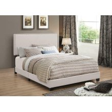 Boyd Upholstered Ivory Queen Bed