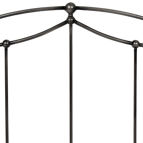 Affinity Complete Bed with Metal Spindle Panels and Detailed Castings, Blackened Taupe Finish, King