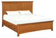 LSO Prairie City King Mantel Storage Bed Product Image