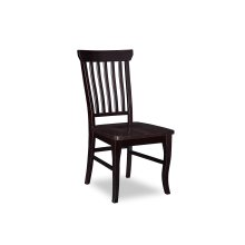 Venetian Dining Chairs Set of 2 with Wood Seat in Espresso