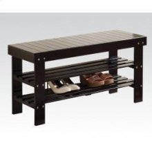 Black Bench W/shoe Rack