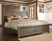 Juararo - Dark Brown 3 Piece Bed Set (Cal King)