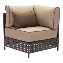 Pinery Corner Chair Brown & Beige