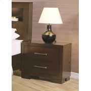 Jessica Cappuccino Two-drawer Nightstand Product Image